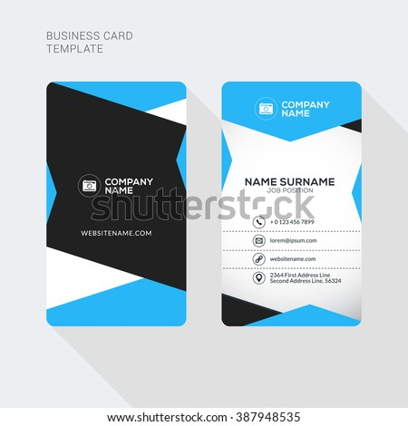 Modern creative clean two sided business stock vector 2018 modern creative and clean two sided business card template flat style vector illustration vertical wajeb Image collections
