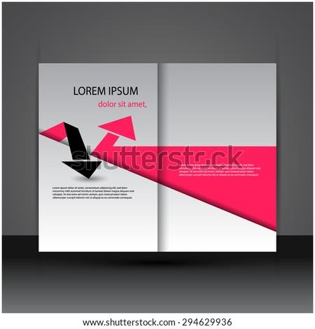 Modern creative brochure / flyer design, eps10 vector. - stock vector