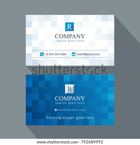 modern creative business card name card stock vector 792689992