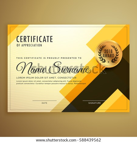 Modern creative certificate design template geometric modern creative certificate design template with geometric shapes yelopaper Image collections