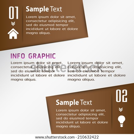 modern creative design template for website, graphic, icon, number, text box.  - stock vector