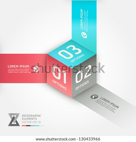 Modern cube origami style options banner. Vector illustration. can be used for workflow layout, diagram, number options, step up options, web design, infographics. - stock vector