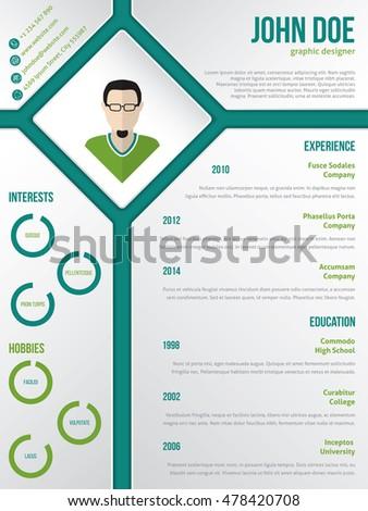 Modern Cv Resume Curriculum Vitae Template Stock Vektorgrafik