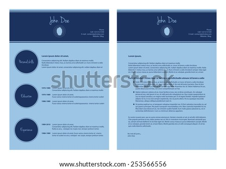 modern cv template, special resume design - stock vector