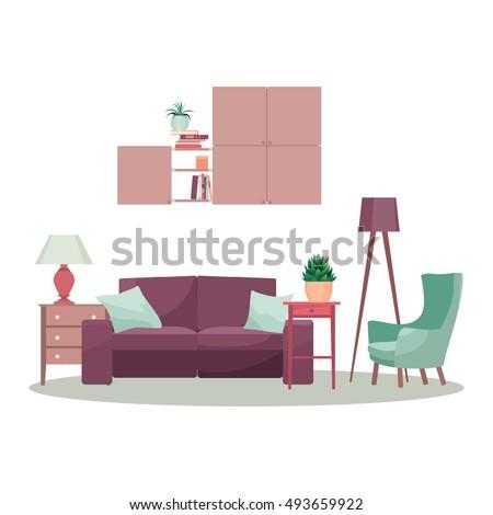 Living Room Vector Stock Vector 102603881