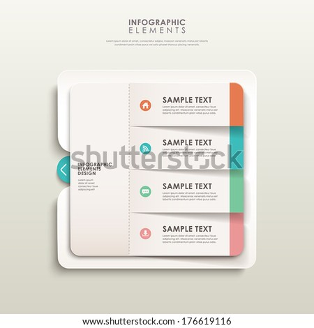 modern 3d vector abstract banner infographic elements - stock vector