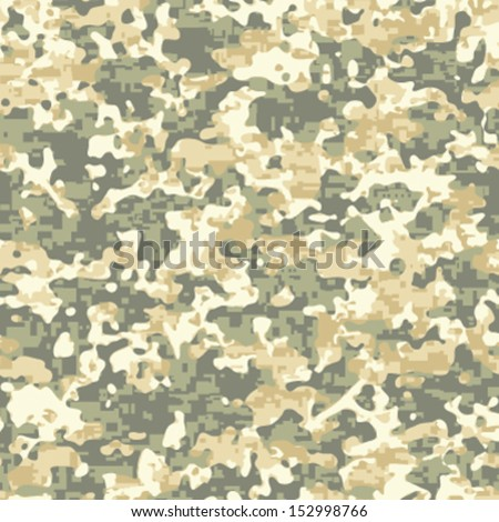 Modern Day Ruins Camo Seamless Background Pattern - stock vector