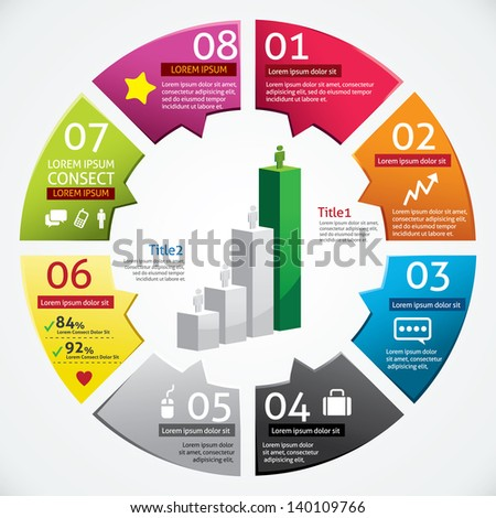 Modern Design Business Infographics Template - stock vector