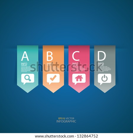 Modern design button infographics. Vector illustration
