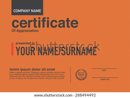 Modern design certificate.  - stock vector