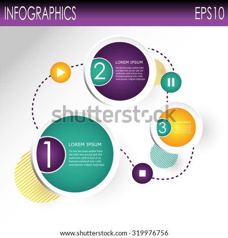 Modern Design Circle template / can be used for infographics / numbered banners / horizontal cutout lines / graphic or website layout vector - stock vector