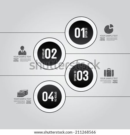 Modern design for business 3D options diagram info graphic. Vector illustration. Info graphic. Layout design. Template. Web design  - stock vector