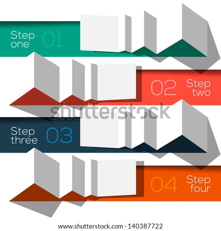 Modern design info graphic template origami styled, vector Eps10 illustration. - stock vector