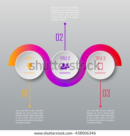 Modern design infographic template. Infographic timeline template can be used for chart, diagram, web design, workflow layout - stock vector