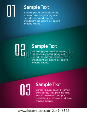 modern design label text box template for website, speech bubble, labels, icon, numbers. - stock vector
