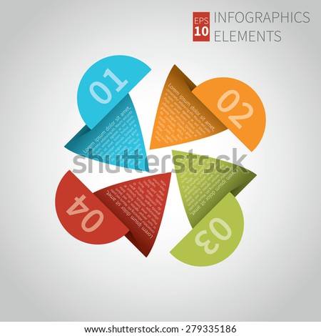 Modern Design Layout. Can be used diagram, number options, step up options, web design, banner template. Vector illustration. - stock vector