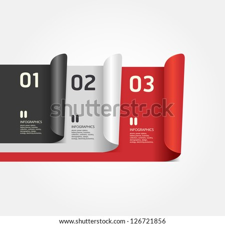 Modern Design numbered banners template / can be used for infographics / numbered banners / horizontal cutout lines / graphic or website layout vector - stock vector