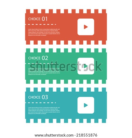 Modern design template / abstract filmstrips / ticket banners. - stock vector