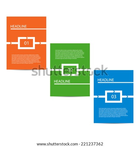 Modern design template. Can be used as infographics / numbered banners / process steps / workflow diagram. - stock vector