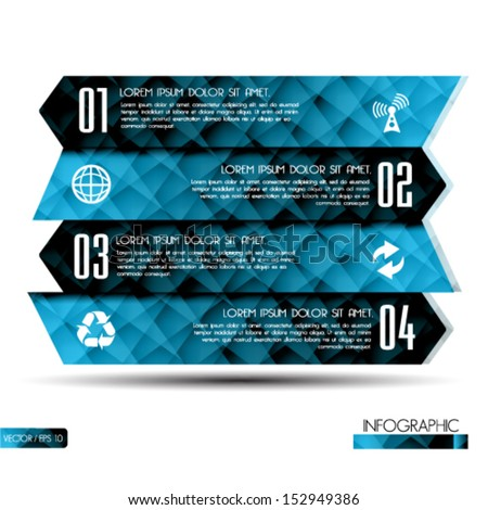Modern Design template / can be used for infographics - stock vector
