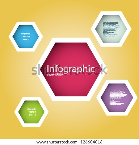 Modern Design template / can be used for infographics / numbered banners / horizontal cutout lines / graphic or website layout vector/Horizontal. - stock vector