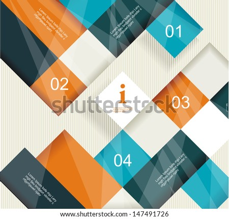 Modern Design template. Can be used for infographics, numbered cells, cutout lines , website desing elements.  - stock vector
