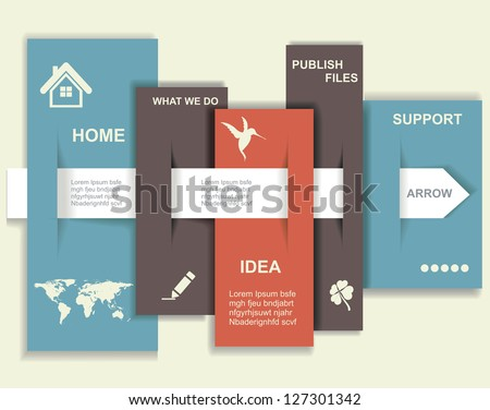 Modern Design template. Graphic or website layout vector. - stock vector
