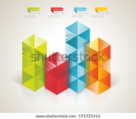 Modern Design template isometric style. Can be used for workflow layout; diagram; number options; step up options; web design; banner template; infographic.  - stock vector