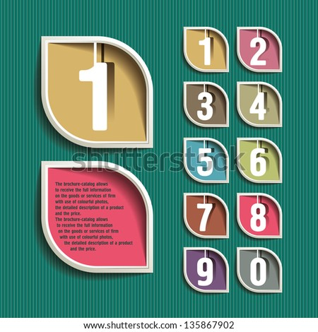 Modern Design template /  numbered banners - stock vector