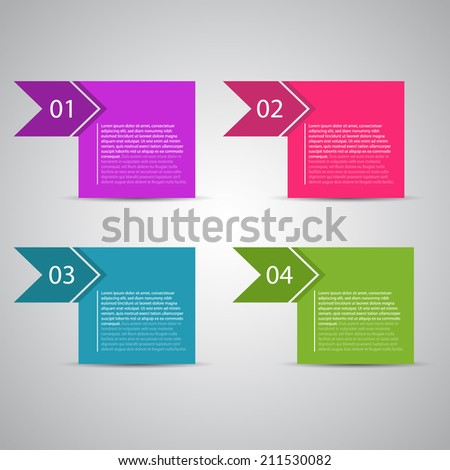 Modern design template / numbered banners for tutorial and advertising. - stock vector