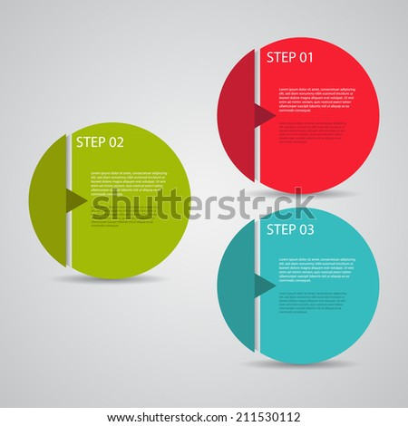 Modern design template / numbered circles / tutorial steps. - stock vector