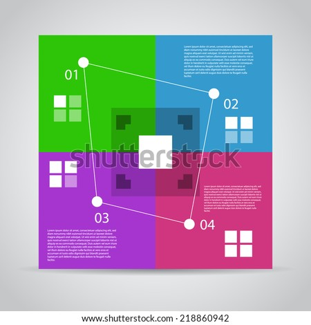 Modern Design Template / process steps / workflow layout chart. - stock vector