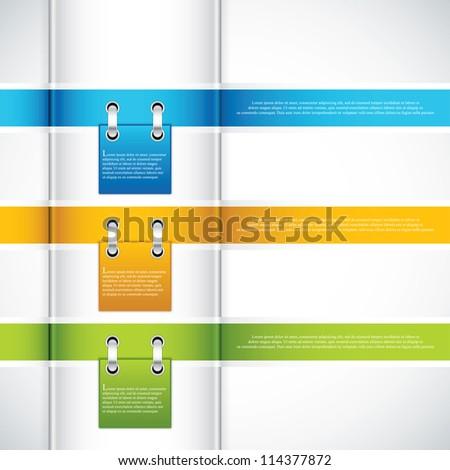 Modern Design template.Ribbon vector - stock vector