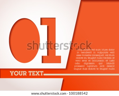 Modern design template / simple and clean / cut out / fully editable for graphic design, web banners or digital presentation - orange template - stock vector