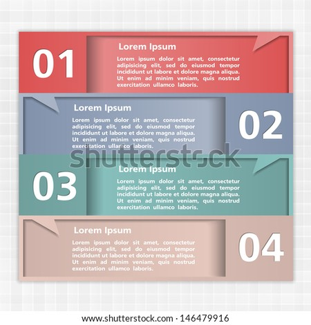 Modern design template with four elements, vector eps10 illustration - stock vector