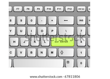modern designed keyboard - stock vector