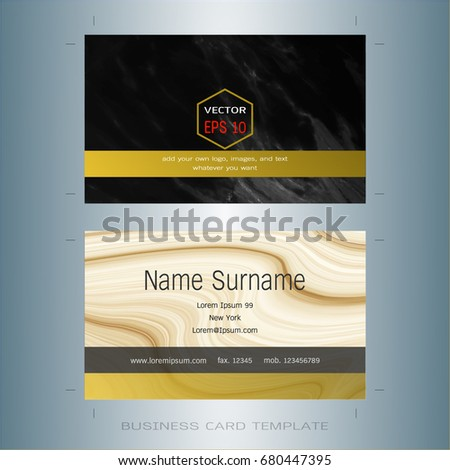 Modern designer business card layout templates stock vector royalty modern designer business card layout templates black and gold background easy to use by wajeb Images