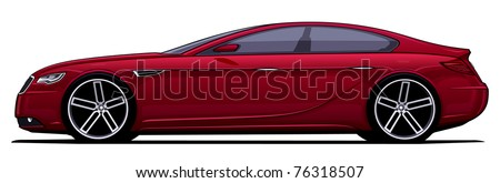 Modern detailed car - more variations in portfolio - stock vector