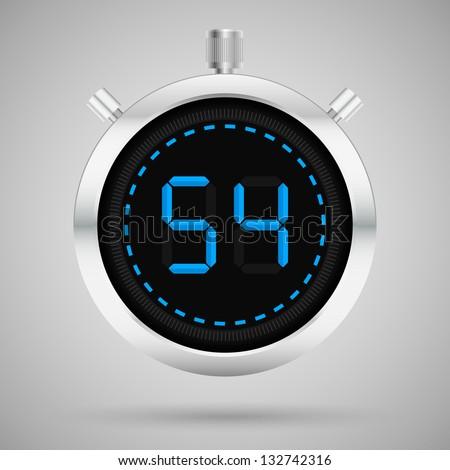 Modern digital chronometer. Vector illustration. - stock vector