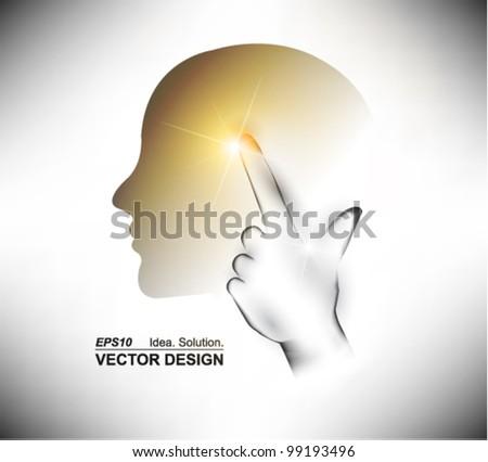 modern digital thinker design - stock vector