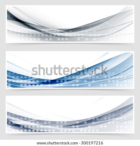 Modern dotted wave header collection layout in high-tech style. Vector illustration - stock vector