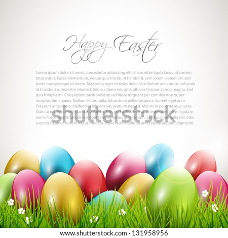Modern Easter background with place for text - stock vector