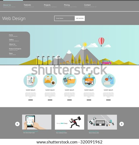 Modern Eco Website Template Flat Eco Stock Vector 320091962 ...