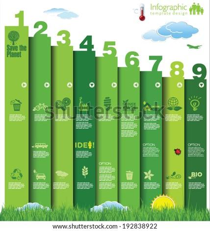 Modern ecology design - stock vector