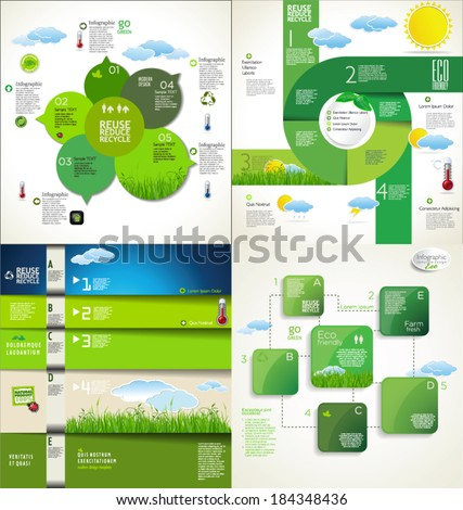 Modern ecology Design Layout, collection - stock vector
