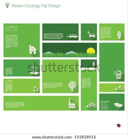 Modern ecology flat design - stock vector