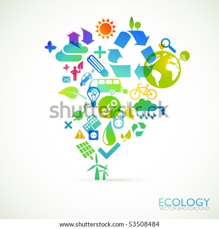 Modern ecology vector background - stock vector