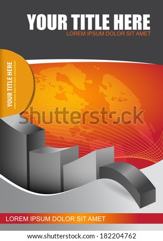 Modern economic background with graph and continents. - stock vector