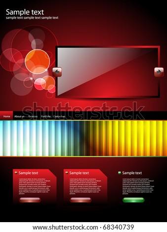 Modern editable website business template - stock vector