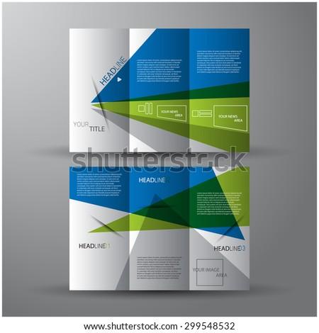 Modern elegant line brochure / flyer design, eps10 Vector art.  - stock vector